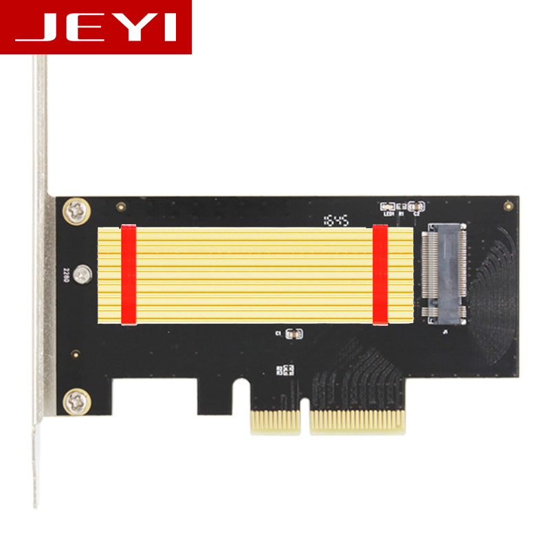 JEYI SK4 Pro M.2 NVMe SSD NGFF TO PCIE X4 adapter M Key interface card Suppor PCI Express 3.0 x4 2230-2280 Size m.2 FULL SPEED