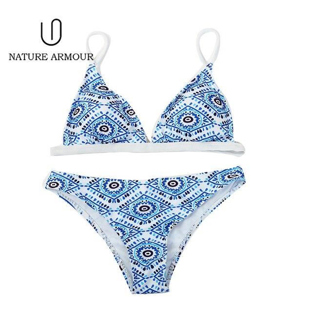 NATURE ARMOUR bikini 2018 new stripe sexy swimsuit print swimwear beach swimming suit for women bikini push up swimwear women 2