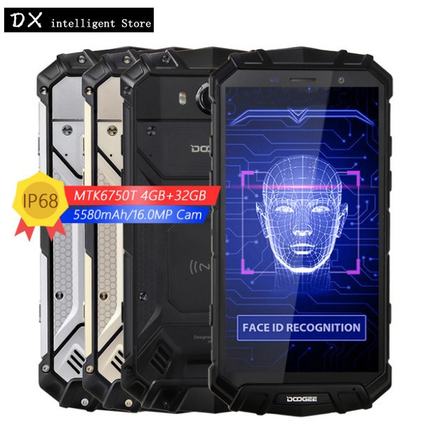 DOOGEE S60 lite IP68 Étanche SmartPhone 5.2 pouces FHD MTK6750T Octa Core 5580 mah 12 v/2A Sans Fil Charge 4 gb + 32 gb Glonass NFC