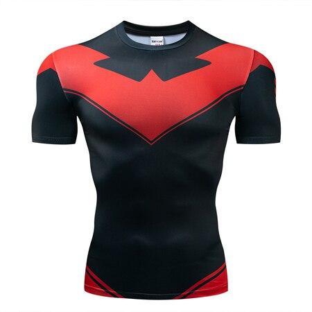 Мстители эндгейм футболка Квантовая царство компрессионная с коротким рукавом для мужчин тренажерный зал Спорт Фитнес окрашенные футболки спортивная одежда для мужчин - Цвет: DX-052