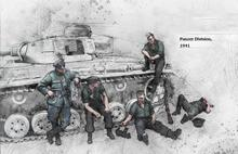 1/35 PANZER DIVISION 1941 (5 FIGURES NO TANK) BIG set    toy Resin Model Miniature resin figure Unassembly Unpainted