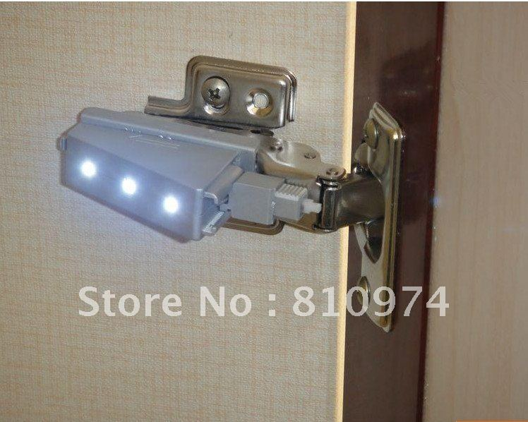 FREE SHIPPING 60 pcs Cabinet Hardware Hinges with LED Hydraulic buffering  Hinge self close HALF OVERLAY