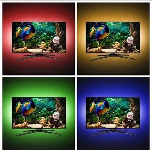Image 5 - 5 فولت 50 سنتيمتر 1 متر 2 متر LED قطاع ضوء كابل يو اس بي الطاقة مصباح مصلحة الارصاد الجوية 5050 RGB 24KEY RGB IR التحكم عن بعد مصباح الشريط للتلفزيون إضاءة خلفية