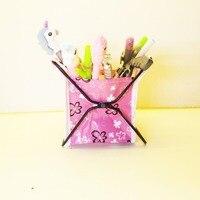 Creative Folding Mini Oxford Cloth Waterproof Pen Holder Store Content Box Storage Box Desk Decoration Kid Gift