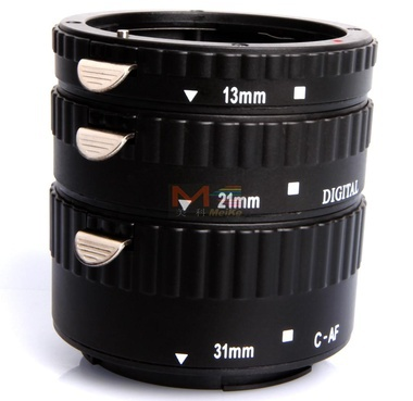цена на Meike MK-C-AF-B Metal AF Macro Extension Tube Set for Canon EOS Camera