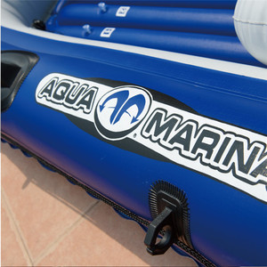 Image 4 - AQUA MARINA WILDRIVER Inflatable Boats Fishing Boat Rubber Inflatable PVC Boat Kayak For Fishing Double Persons With Paddle