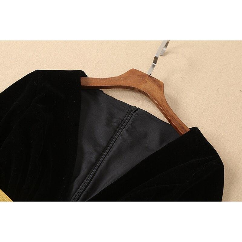 Designer 2019 Motif Set Chemise Blouse Costume Date Moitié Ensemble Manches Jupe Piste Art Femmes Qualité Haute Imprimé PFEtA