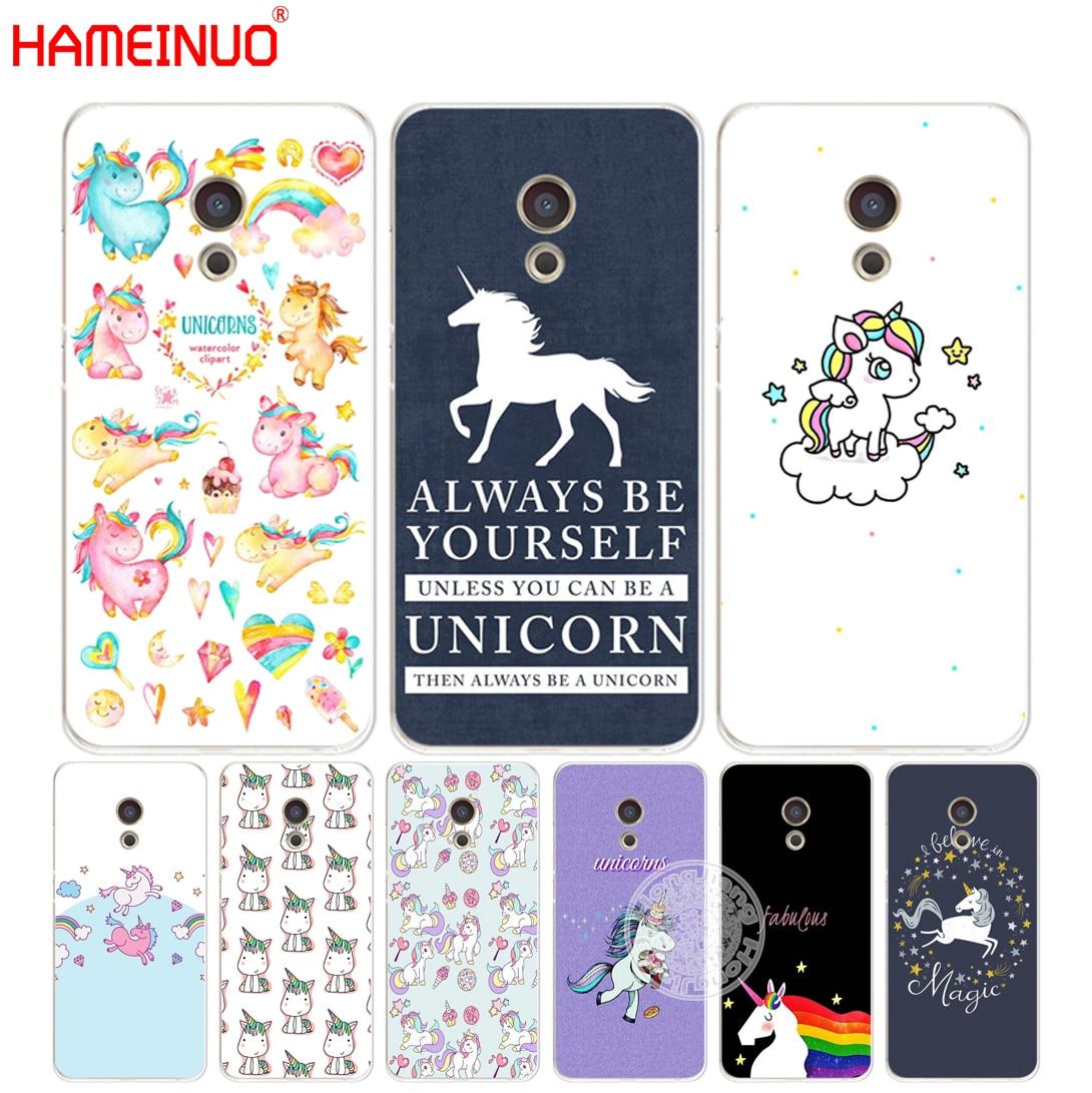 Hameinuo Единорог Лошадь Симпатичные Обложка Телефон чехол для Meizu M5 M5S M6 M2 M3 M3S MX4 MX5 MX6 Pro 6 5 U10 U20 Примечание плюс