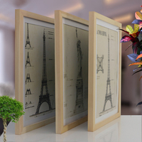 A4 Size Wood Photo Frame Wood Card Backplane Stand Table Display Photo Quadro Decoration TV Wall Frame Best Gift 2019