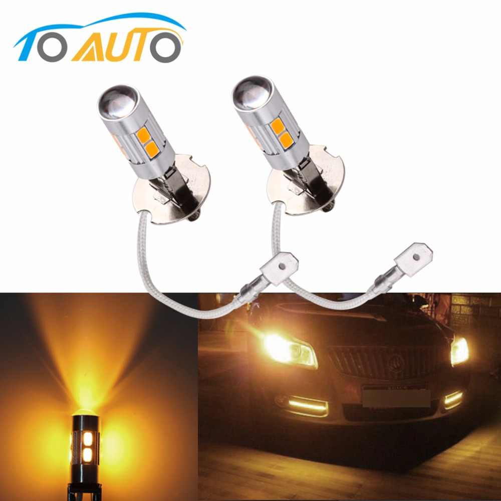 2pcs H3 Led Light Replacement Bulbs For Car Fog Lights