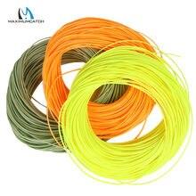 Maximumcatch linha de pesca dupla, fita flutuante verde/amarelo/laranja 1-8wt 100ft dt