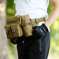 Camouflage Color Work Pockets Professional Tool Bag Belt Pouch Work Tape Buckle Convenient Military Waist Pack