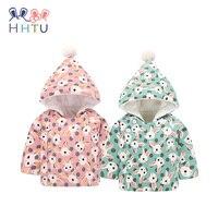 HHTU 2017 Baby Newborn Boys Girls Big Hat Kid Outerwear Keep Warm Quilted Cotton Jacket Winter