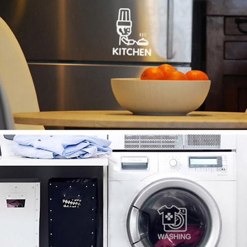 DIY Breakfast Waterproof Washing Machine Kitchen Bathroom Furniture Glass  Stickers 3d Wall Sticker Fashion Home Deocr 4007 In Wall Stickers From Home  ...