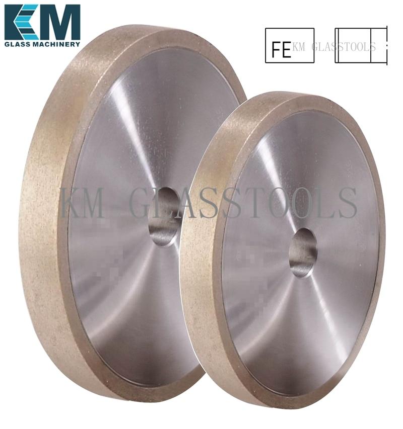 Free Shipping KM 100x22xFE8 10 12 15 19 25mm Flat edge 1A1 Peripheral Daimond wheels Grinding