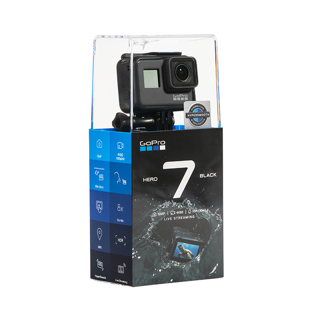 US $445 55 5% OFF|GoPro HERO7 Black Action Camera + Sports Accessories Kit  Bundle for Hero 7 Black-in Sports & Action Video Camera from Consumer