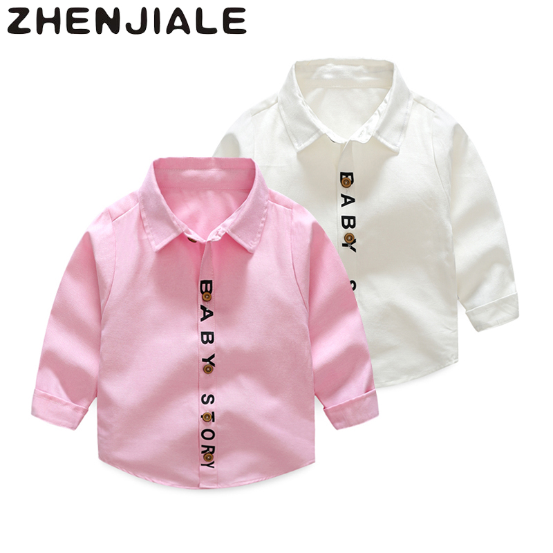 0~2 Years Old Newborn Blouse Babys Boys Girls Summer Spring Shirts Tops Clothing Long Sleeves Letter Print Casual Fashion AFD87