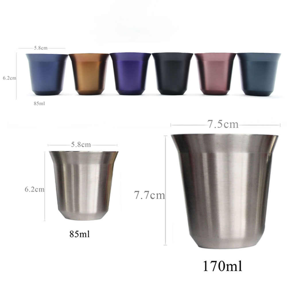 Capsule Steel Espresso Cups Mug Coffee Double Nescafe Wall Pixie Thermo Stainless Nespresso Cup 4L3Ajc5Rq