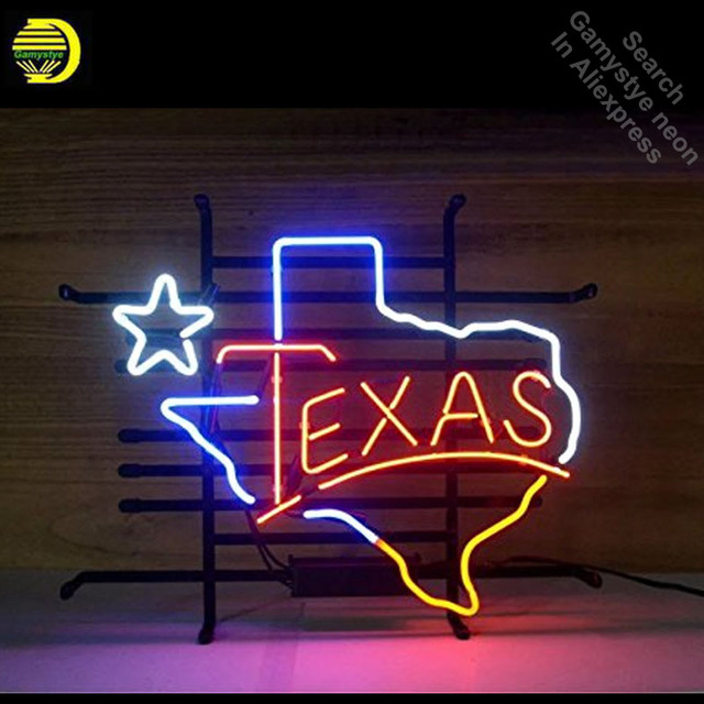 Neon Signs for Texas Neon Light Sign Handcrafted Neon Bulbs sign Glass Tube Decorate Restaurant Store Wall Signs dropshipping
