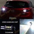 1x branco 6000 k t15 w16w cree chips + samsung led reverso lâmpada de backup para mazda cx-3 cx3 rx8 mazda cx-5 cx5 cx 8 5 m8 m5