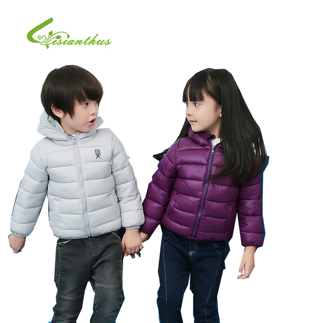 Winter Children Warm And Compact Coat Portable Cute Baby Cotton Bread Coat Boys And Girls All Can Wear 8 Colours 2016 New Sale