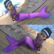 Mermaid Tail Kids Mermaid Tail Cosplay Costume Mermaid Tails for Swimming Girls Christmas Swimming Mermaid Tail+Monofin Colorful