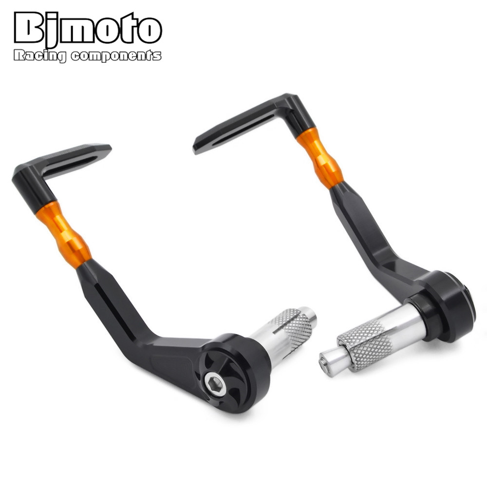 BJMOTO 7/8 22mm Orange Motorcycle Proguard System Pro Brake Clutch Levers Protect Guard For KTM RC 125 200 390 RC8 R universal 7 8 22mm cnc motorcycle handlebar protector guard proguard brake clutch levers protect for ducati monster 696 695 796