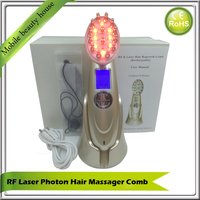 Rechargeable Vibration RF EMS Photon Laser Therapy Stimulation Hair Growth Regrowth Massager Comb Brush For Hair Loss Treatment