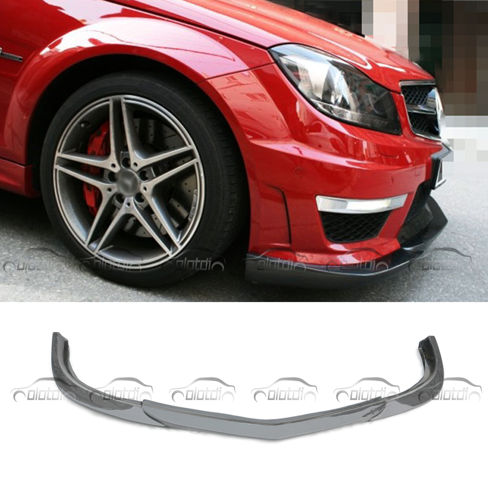 For Mercedes Benz W204 C63 For God Hand Style GH Car Styling Carbon Fiber Front Lip Bumper Splitter