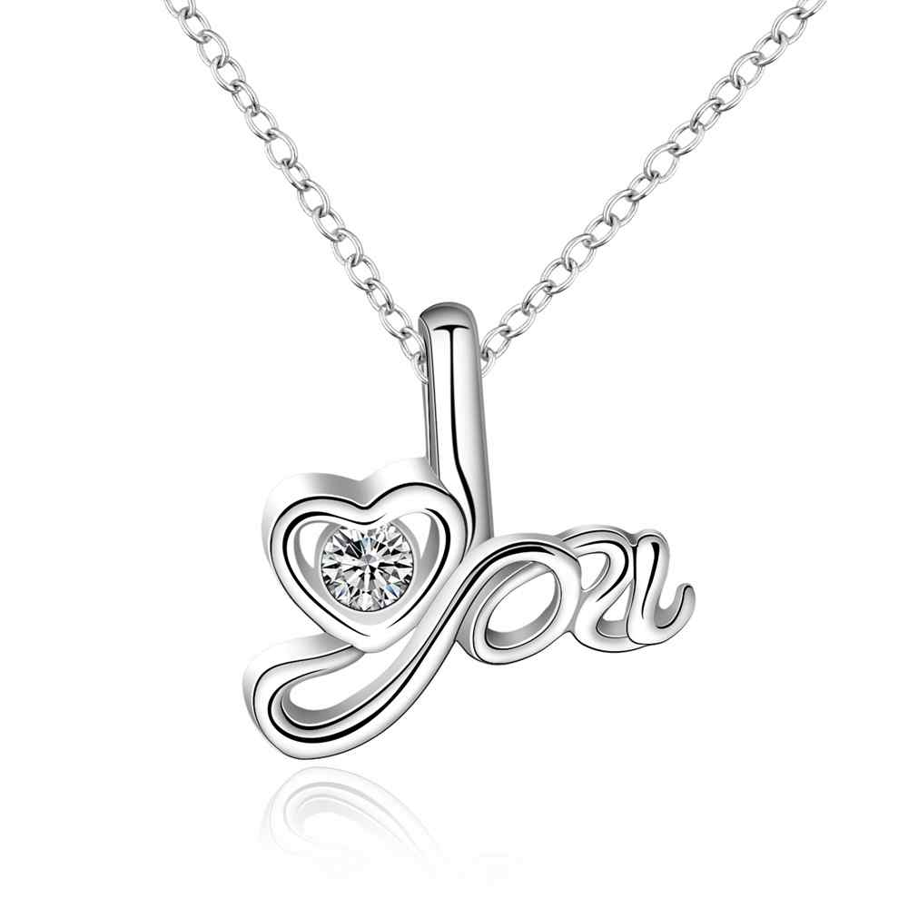 KITEAL online shopping india silver plated women pendant heart Valentine gift Love bisuteria jewellery
