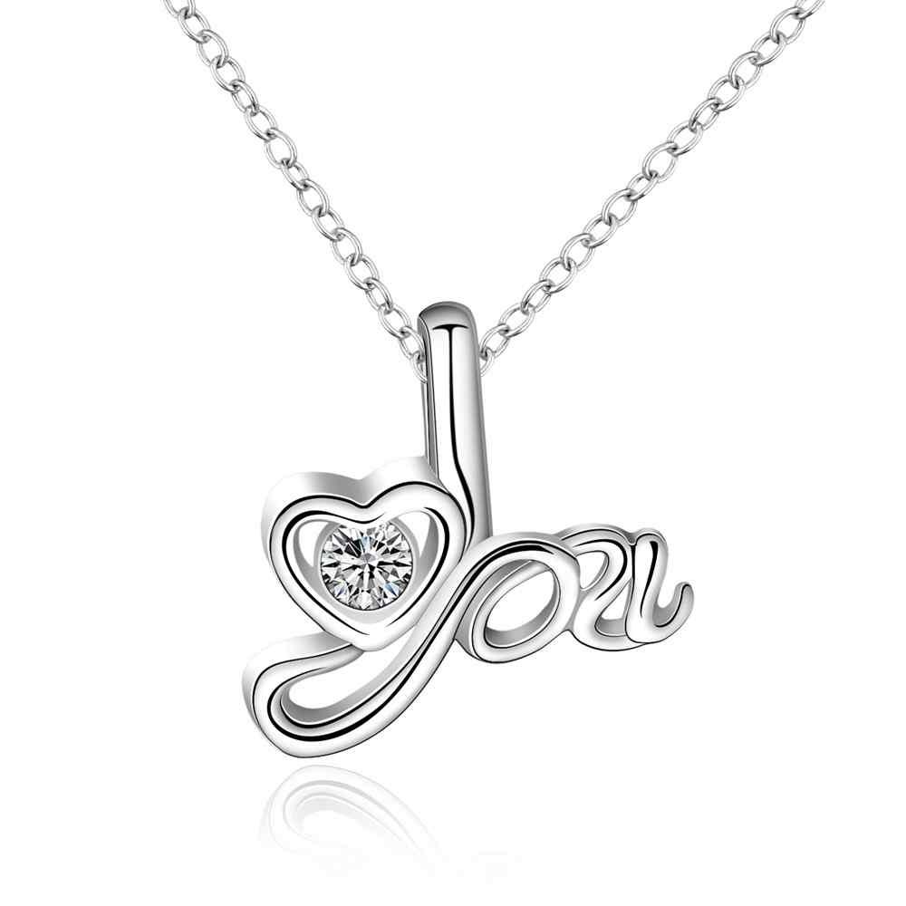 Kiteal интернет-магазины Индии с серебряным покрытием женщин кулон сердце подарок на день Святого Валентина LOVE bisuteria Jewellery