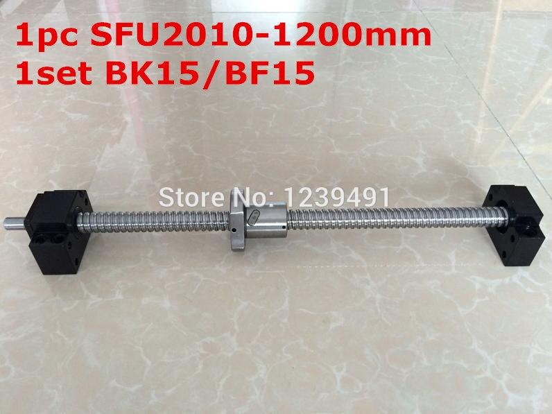 SFU2010 - 1200mm ballscrew with end machined + BK/BF15 Support CNC parts sfu2010 750mm ballscrew with end machined bk bf15 support cnc parts