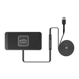 Image 5 - QIไร้สายได้อย่างรวดเร็วสำหรับiPhone 11 XS 12รถชาร์จPadสำหรับSamsung S10แท่นวางลื่นเสื่อรถแผงควบคุม