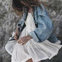 Sin tirantes encaje verano Boho Vestido Mujer vestido de bola sin espalda Hippie Chic Mini vestidos bohemios de playa Ropa Mujer de talla grande (XS-XXL)