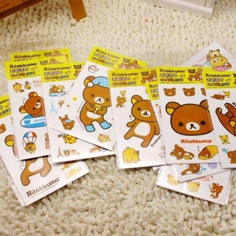 DIY Cute Kawaii Cartoon PVC Sticker Lovely Rilakkuma Sticky Paper For Home Decoration Scrapbooking Student 979
