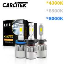 CARLitek h7 led lamp 4300K 6500K 8000K h4 car headlight H1 H11 H8 H9 9005 9006 auto front head lights fog lamp 72W 8000LM(China)