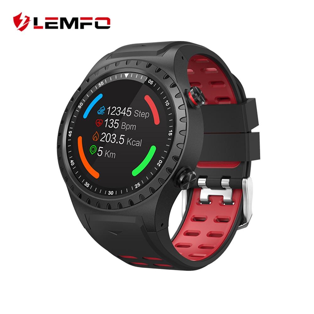LEMFO Professionnel Sport Modes En Plein Air Activité Tracker IP67 Étanche Soutien GPS SIM Carte Montre Smart Watch Hommes Pour Android IOS