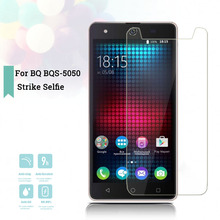 цена на 2.5D 0.26mm Ultra Thin Tempered Glass BQ BQS-5050 Strike Selfie Toughened Protector Film Protective Screen Case Cover Universal