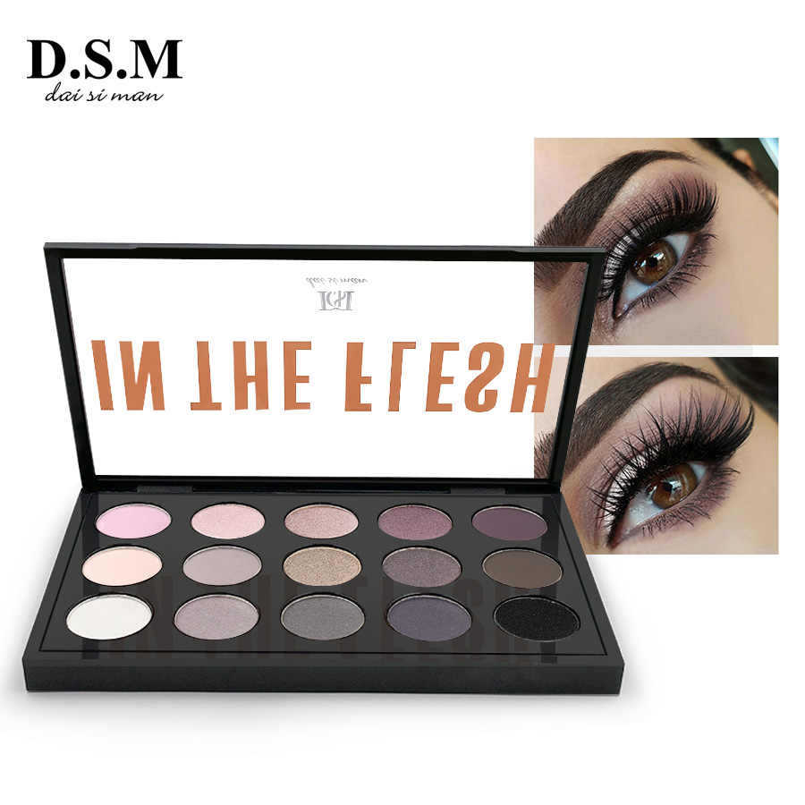 ca67a347f0a8 D.S.M Professional Eye Shadow 15 Colors Neutral Shades Multiple Looks  Full-sized Shadows Cosmetics Makeup Eyeshadow Palettes
