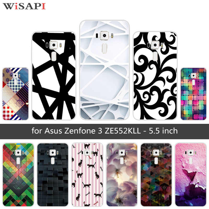 Pour Asus Zenfone 3 ZE552KL étui Asus ZE552KL TPU souple Silicone Bizarre couverture arrière 5.5 pouces pour Asus Zenfone 3 ZE552KL