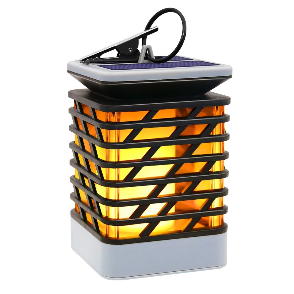 Solar Lights Outdoor Espier LED Flickering Flame Torch Lights Solar Powered Lantern Hanging Decorative Atmosphere Lamp