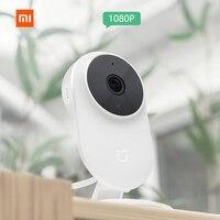 Оригинальная Xiaomi mi jia 1080 P камера для персонального компьютера камера 130 градусов 2,4G Wi-Fi 10 m инфракрасное ночное видение + NAS mi c динамик домашня...