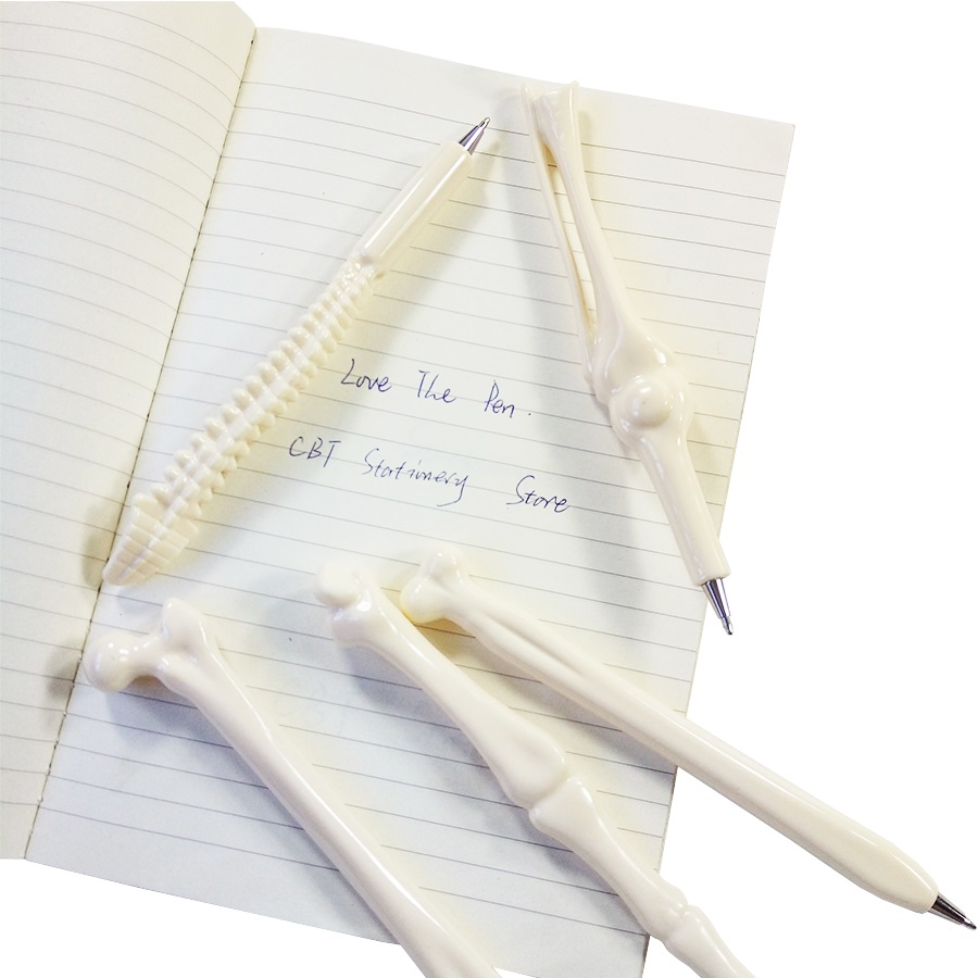 50 Pcs/lot Hot sale Ball Point Pen Bone Shape Doctor Student Teacher Funny Unique Gifts Novel gifts Easter Party Favors