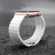 купить High Elegant Ceramic strap For Apple Watch band 4 44/40mm men women Fashion Bracelet Wrist band For iwatch Series 3 2 1 42/38mm по цене 1160.25 рублей