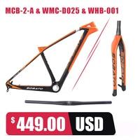 Sobato 650b cinese in fibra di carbonio mtb/mountain bike telaio orange 27.5er mtb telaio 16