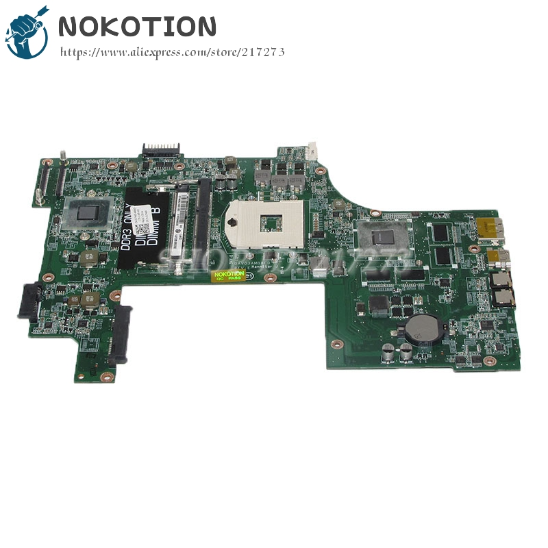 NOKOTION DAV03AMB8E0 CN-01TN63 01TN63 1TN63 For dell Vostro 3750 laptop motherboard GT525M HM67 DDR3 nokotion laptop motherboard for dell vostro 3500 cn 0w79x4 0w79x4 w79x4 main board hm57 ddr3 geforce gt310m discrete graphics