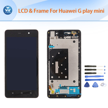 5″ Black White LCD For Huawei G Play Mini Original LCD display+touch screen digitizer+Frame full assembly free Tools
