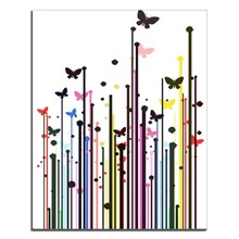 Laeacco Nordic Watercolor Butterfly Paintings Wall Picture Posters and Prints Abstract Canvas on Home Decoration
