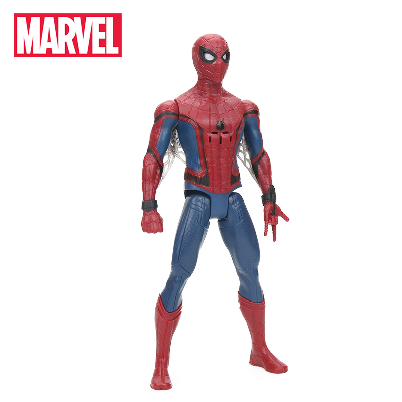 Hasbro Marvel Toys 28CM Spider Man Eye Fx Electronic Spider-man PVC Action Figure Toy Collection Model Dolls brinqudoes настенные часы zero branko zb 0385