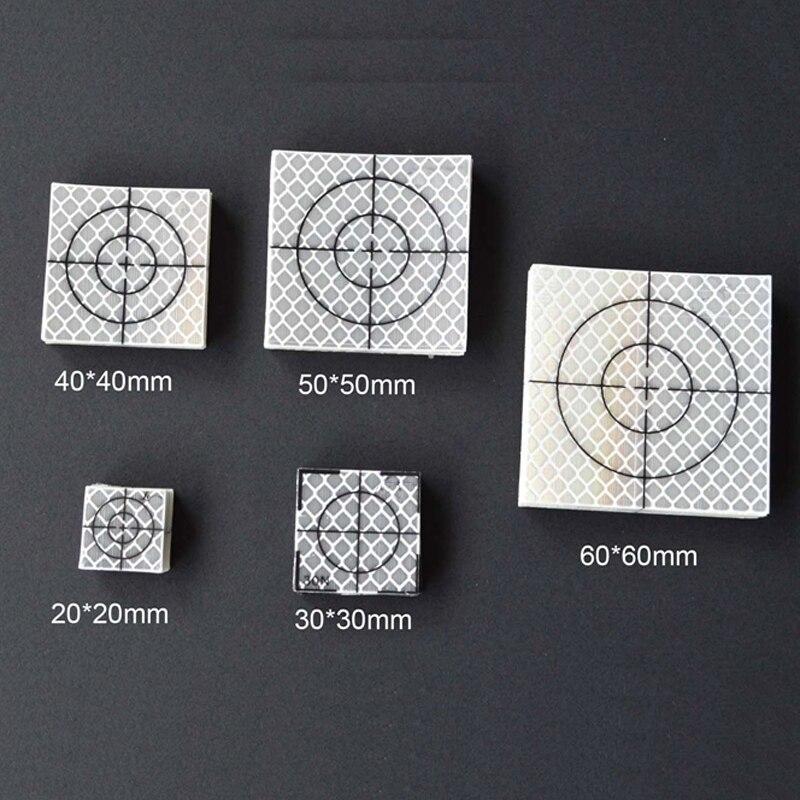 20pcs   Reflector Sheet 60 x 60 mm Reflective Tape Target  New
